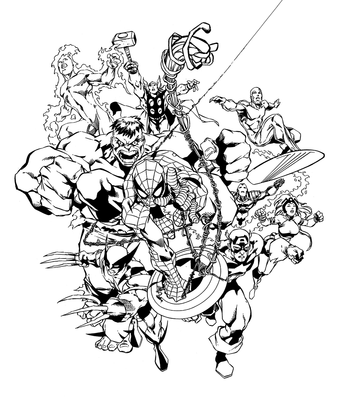 Comics Avengers 9 - Coloriage Avengers - Coloriages Pour destiné Coloriage Avangers