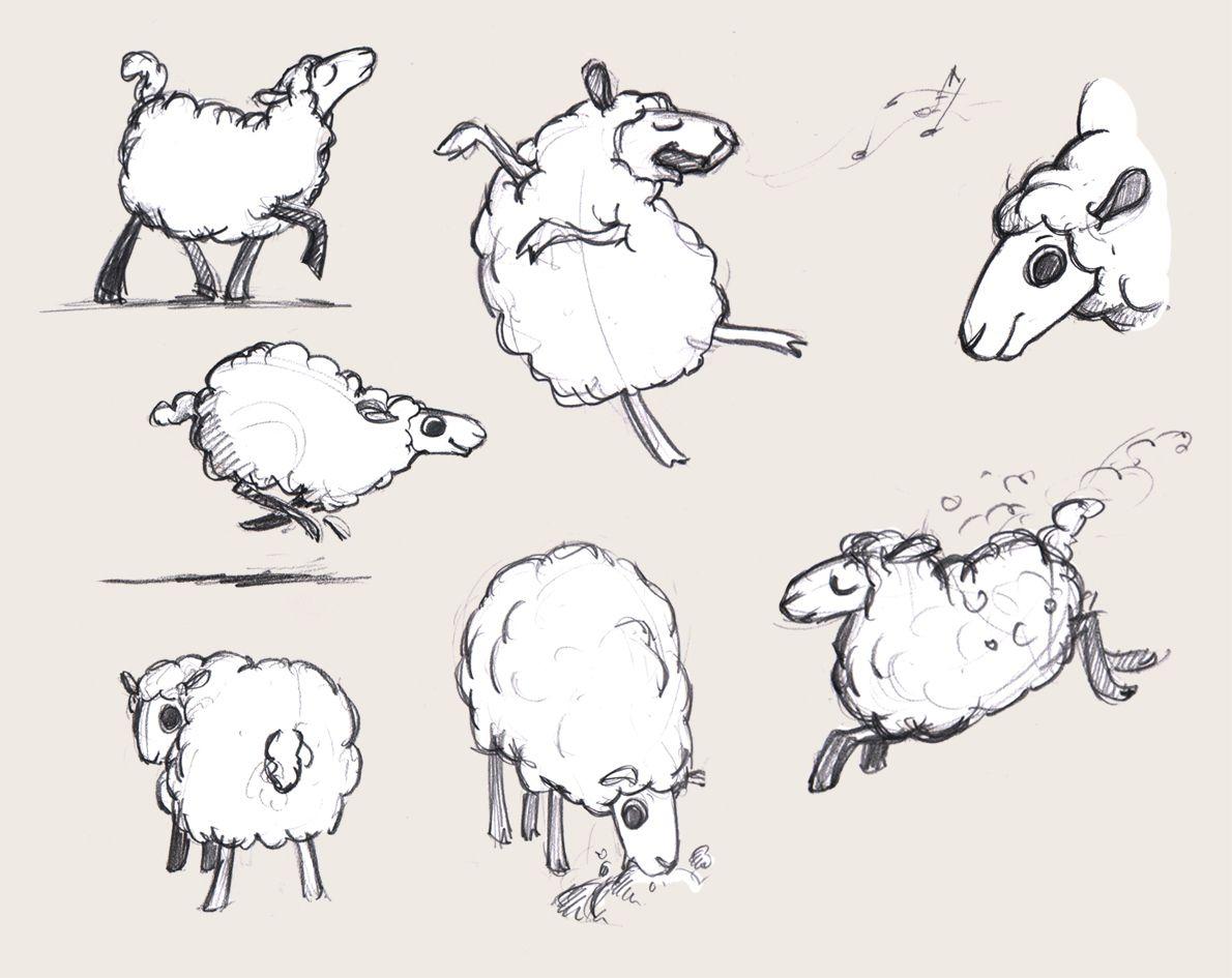 Comme Un Oiseau Sur La Branche, Le Portfolio De Nathalie avec Dessin Mouton Rigolo