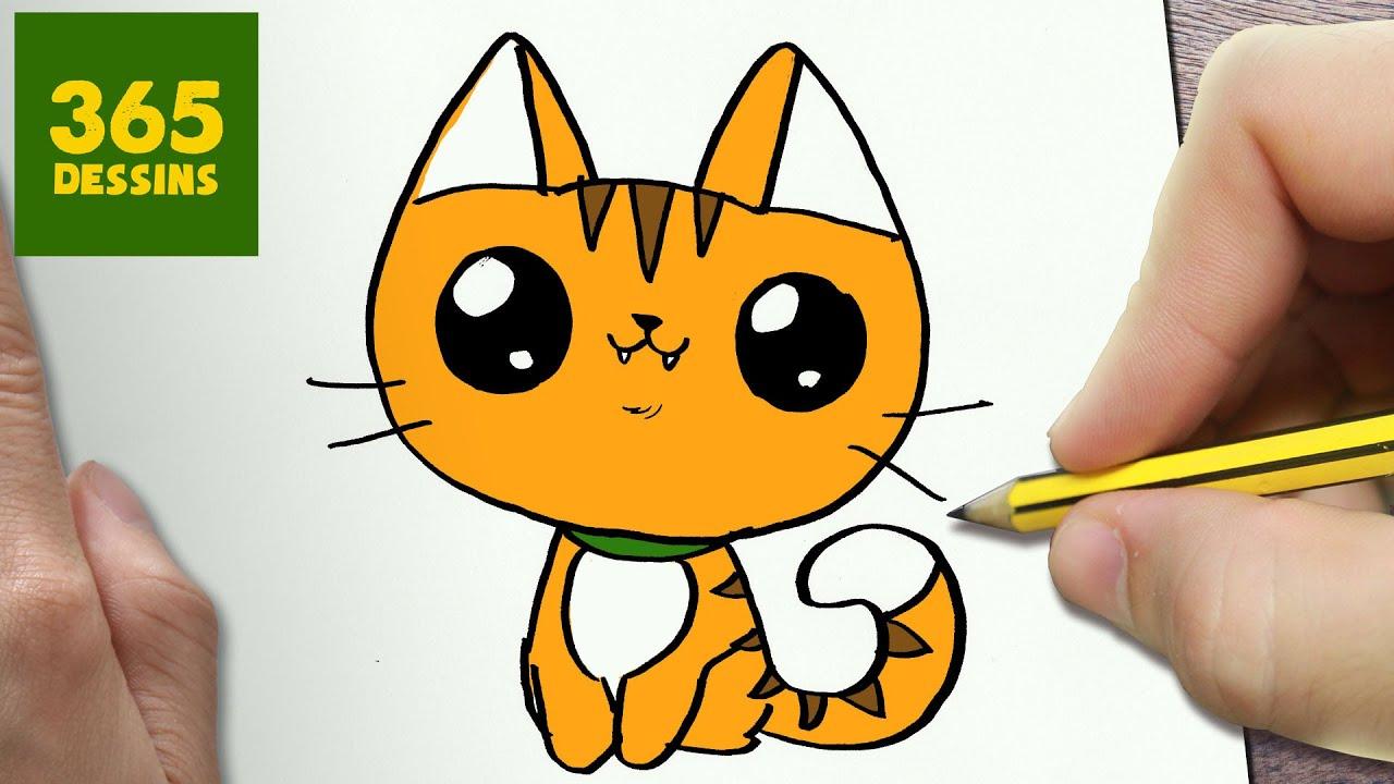 Comment Dessiner Chat Kawaii Étape Par Étape – Dessins pour Dessin Coloriage