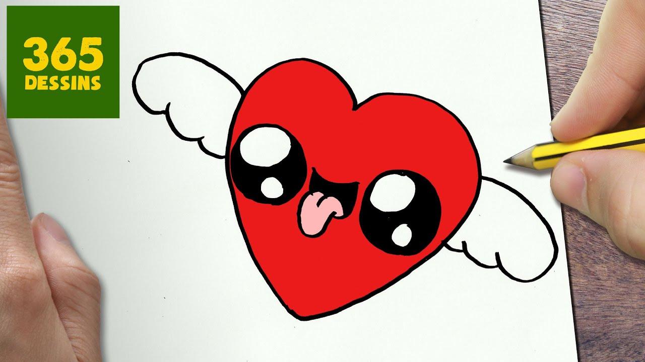 Comment Dessiner Coeur Avec Des Ailes Kawaii Étape Par encequiconcerne Comment Dessiner Un Avion Avec Facile