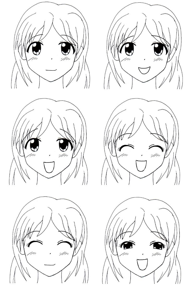 Comment Dessiner Fille Manga pour Dessin Facile Pour Fille