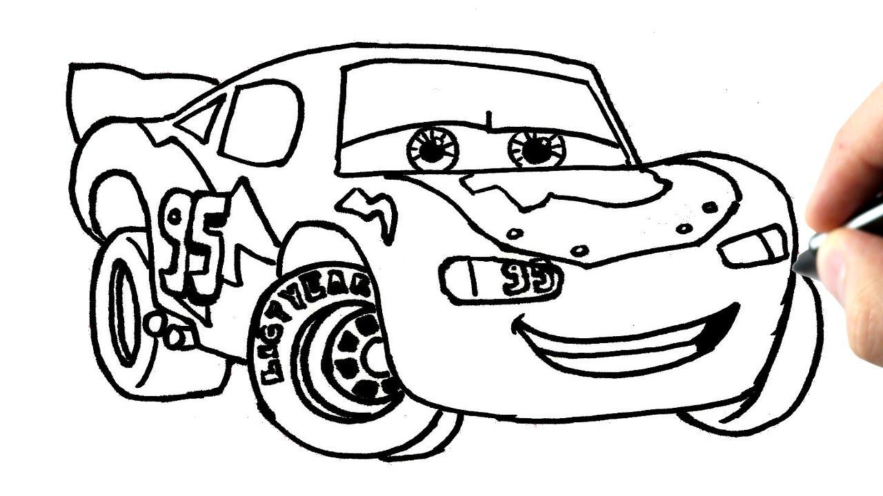 Comment Dessiner Flash Mcqueen (Cars) Tutoriel - serapportantà Coloriage Cars À Imprimer Pdf