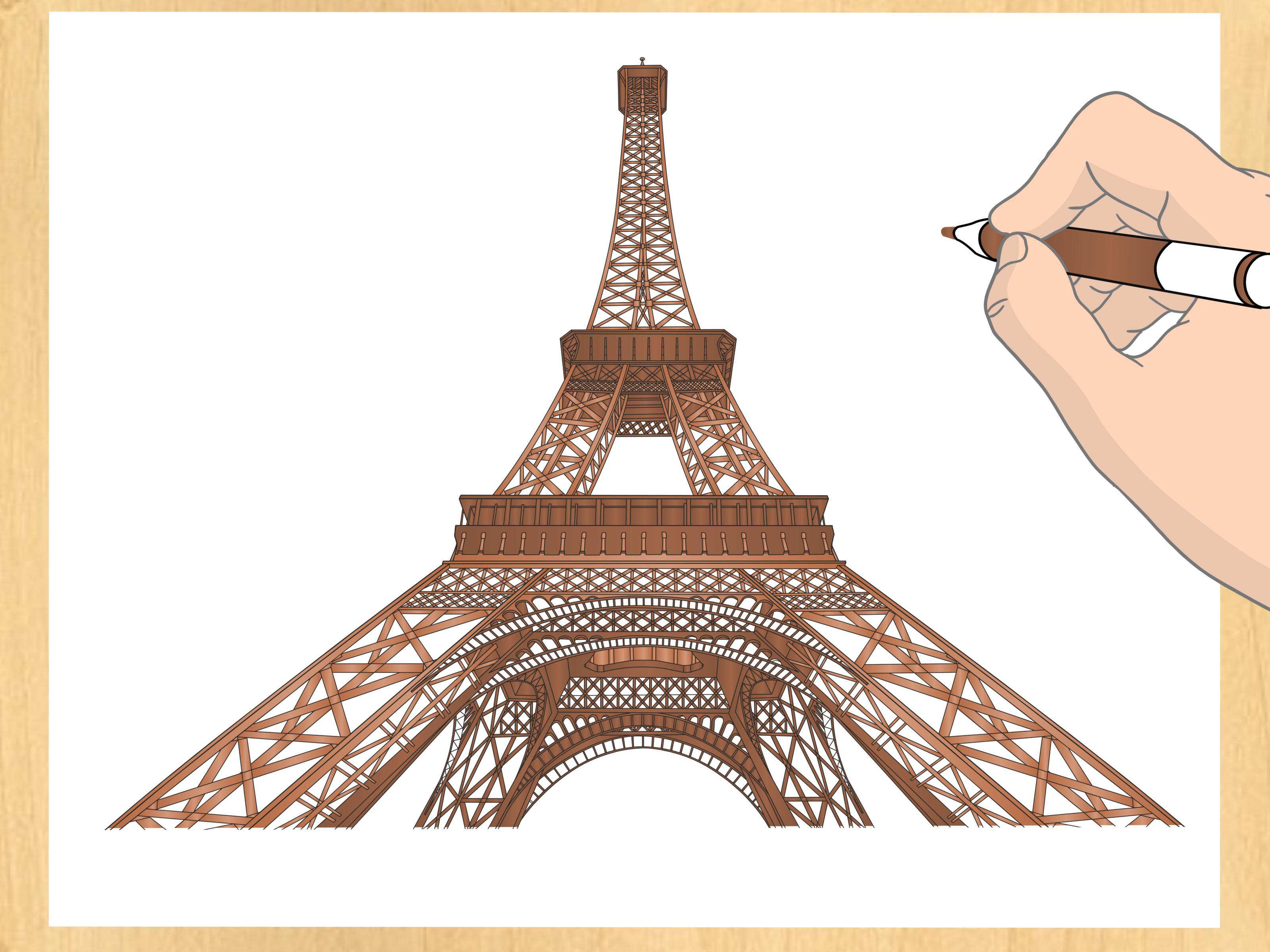 Comment Dessiner La Tour Eiffel: 14 Étapes tout Tour Effel Dessin