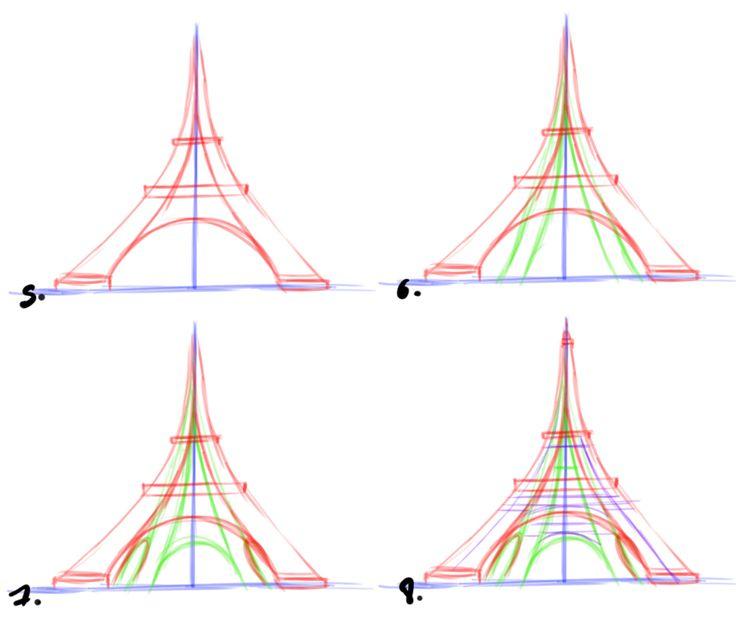 Comment Dessiner La Tour Eiffel | Tour Eiffel tout Dessiner La Tour Eiffel