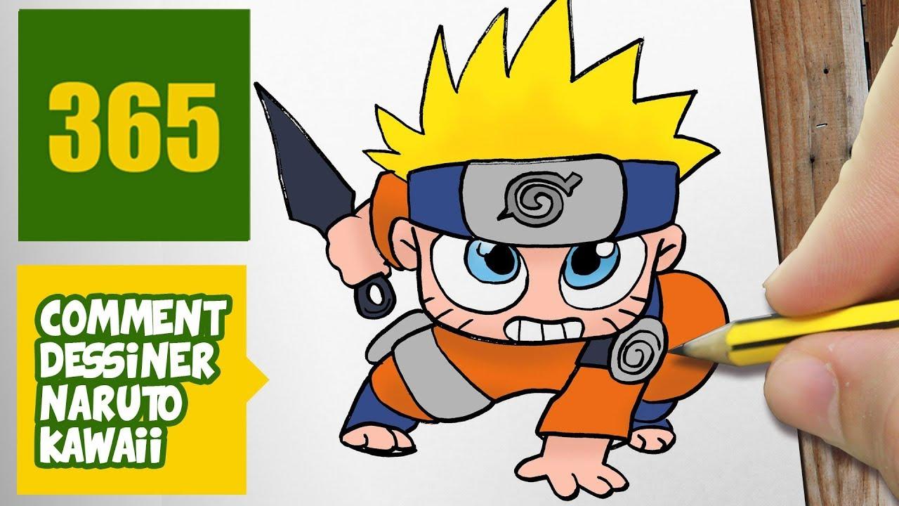 Comment Dessiner Naruto Kawaii Étape Par Étape – Dessins encequiconcerne Dessin De Shino Shippuden En Couleur
