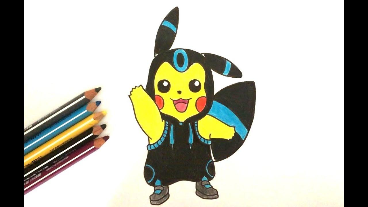 Comment Dessiner Pikachu Noctali (Pokémon) - serapportantà Dessiner Des Pokémon