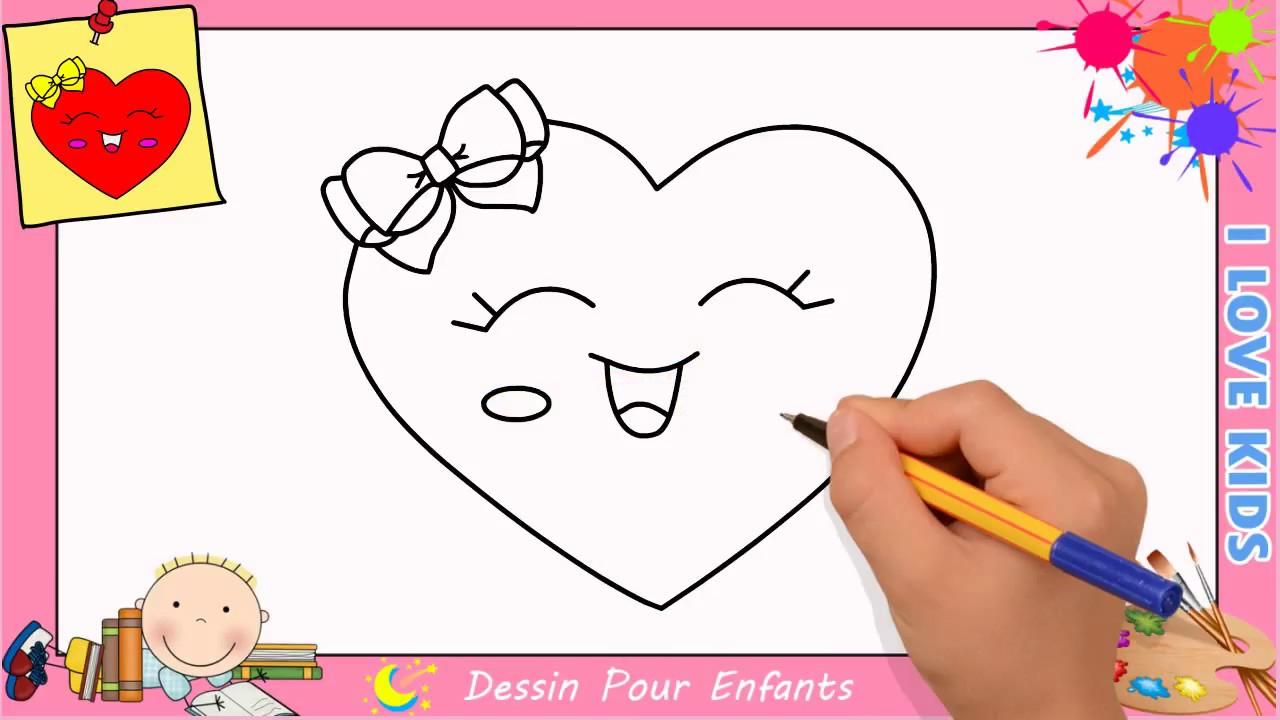 Comment Dessiner Un Coeur Emoji Kawaii & Facilement Pour concernant Comment Dessiner Un Diable Facilement