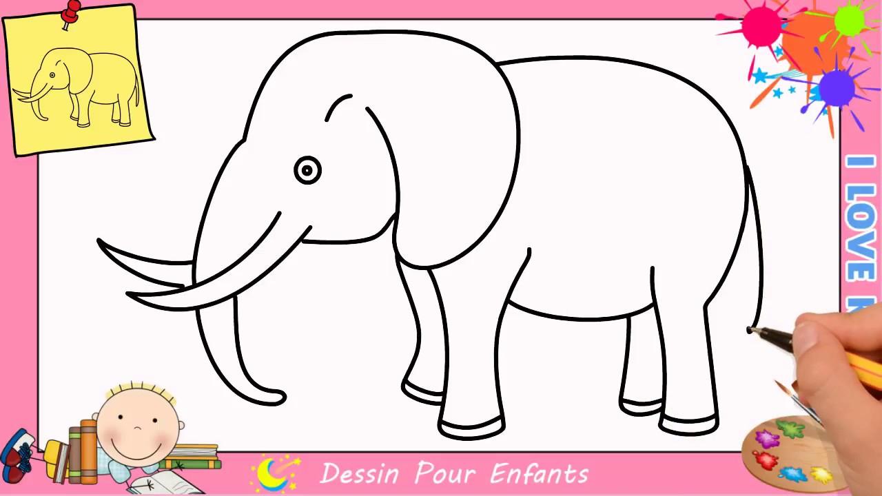 Comment Dessiner Un Éléphant Facilement Etape Par Etape intérieur Dessin Animaux Elephant De Cirque