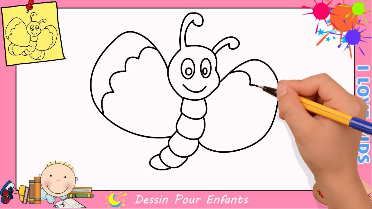 Comment Dessiner Un Papillon Facilement Etape Par Etape pour Etapes Pour Dessiner Facilement Des Tulipes