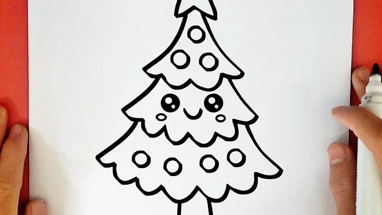 Comment Dessiner Un Sapin De Noël Kawaii - serapportantà Dessin De Noêl