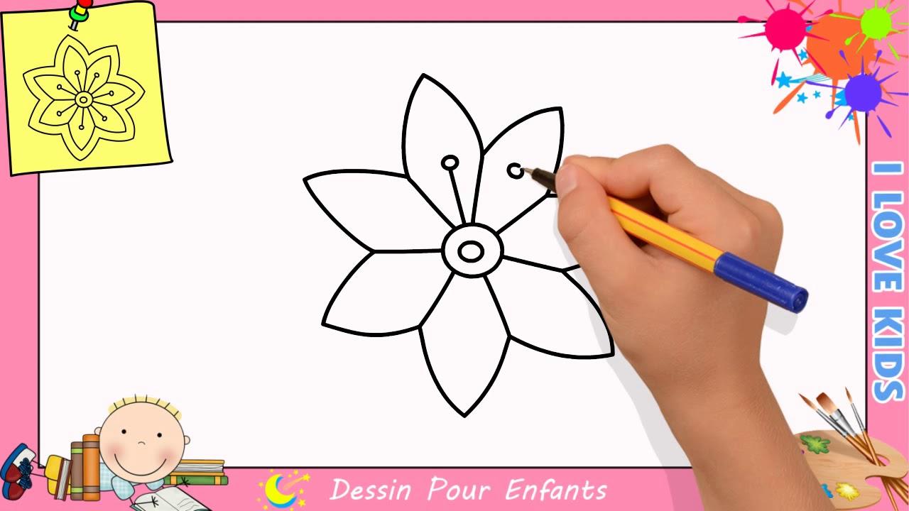 Comment Dessiner Une Fleur Facilement Etape Par Etape Pour destiné Dessin Facile Pour Fille