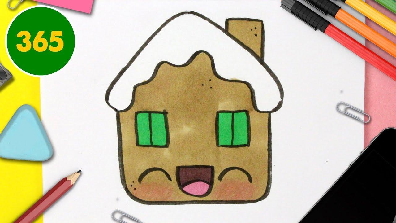 Comment Dessiner Une Maison De Pain D`épice De Noël Étape avec Dessin Maison Facile