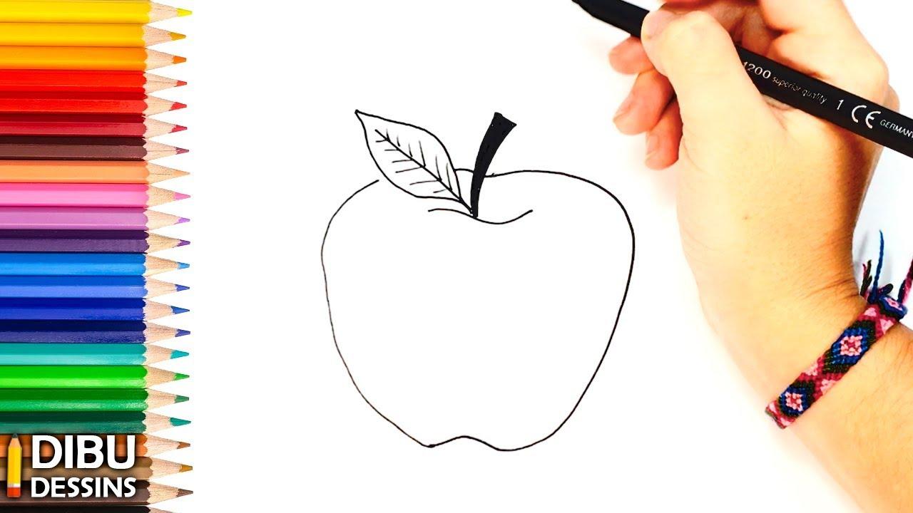 Comment Dessiner Une Pomme| Dessins Faciles - à Comment Dessiner Des Tournesols