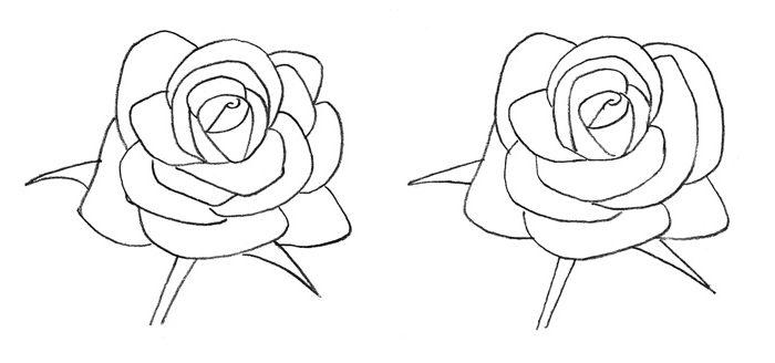 Comment Dessiner Une Rose Au Crayon - Cours De Dessin concernant Rose Facile A Dessiner