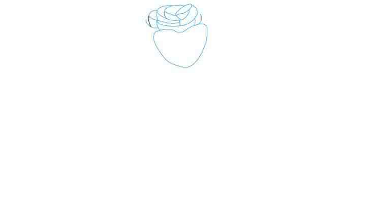 Comment Dessiner Une Rose - Dessein De Dessin destiné Rose Facile A Dessiner