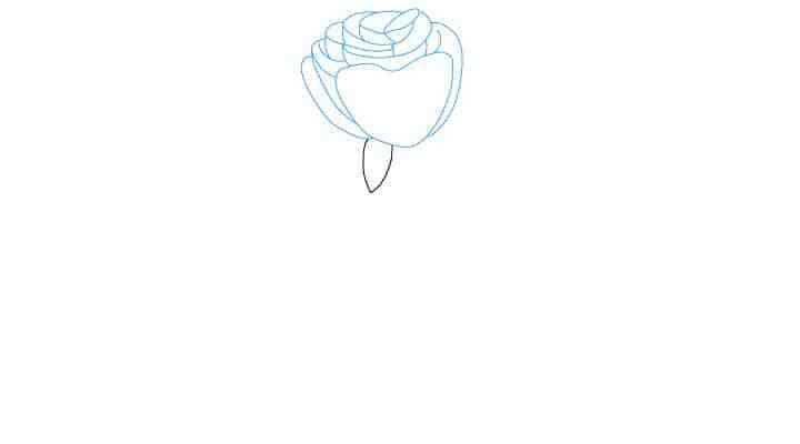 Comment Dessiner Une Rose - Dessein De Dessin encequiconcerne Rose Facile A Dessiner