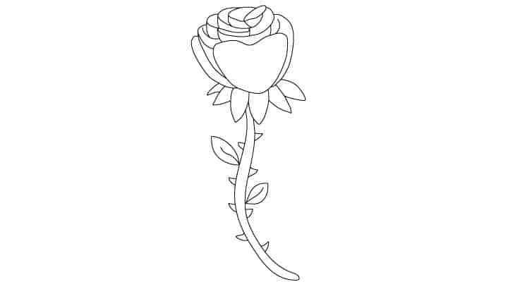 Comment Dessiner Une Rose - Dessein De Dessin pour Rose Facile A Dessiner