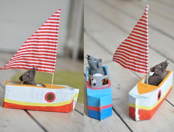 Comment Fabriquer Un Bateau Dans Une Assiette En Carton pour Fabriquer Un Bateau Pirate En Carton
