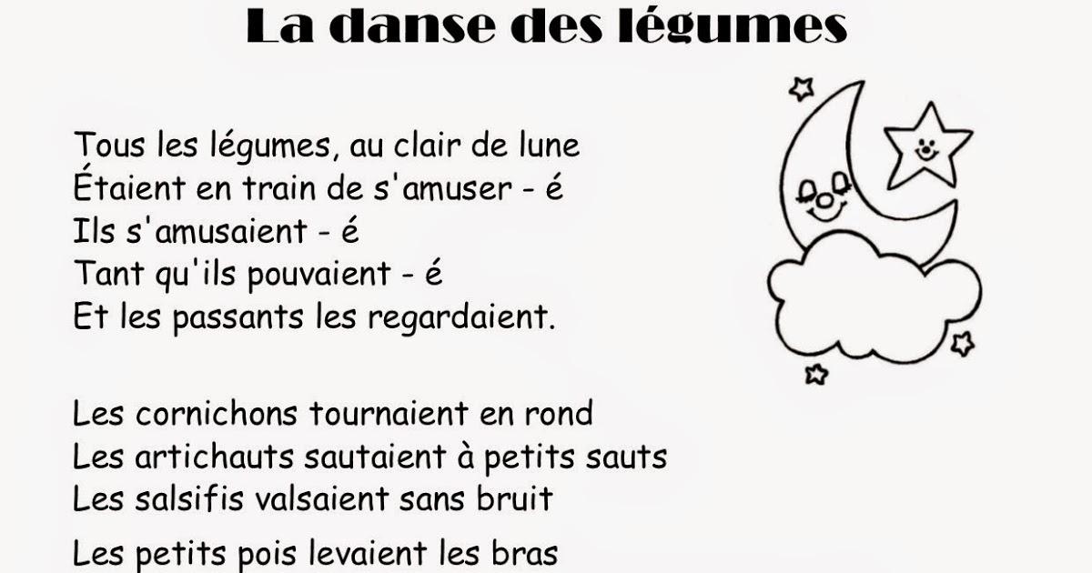 Comptine #30 La Danse Des Légumes à Au Clair De La Lune Paroles