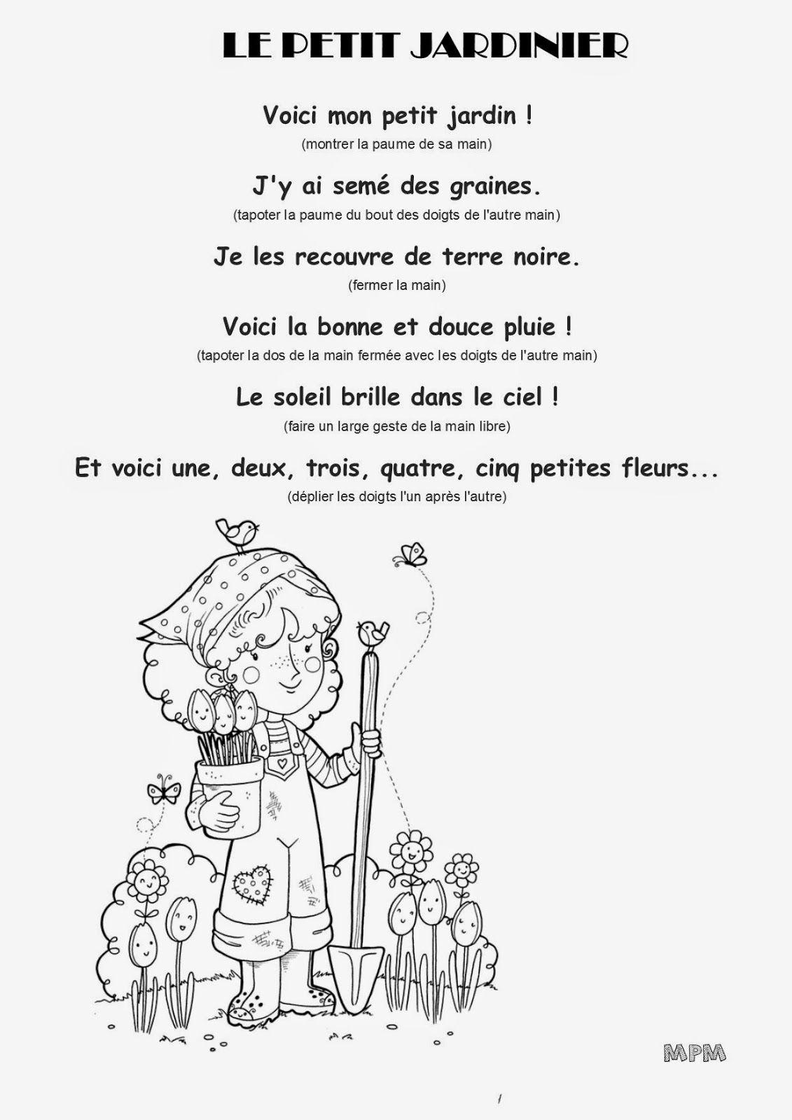 Comptine #38 - Le Petit Jardinier | Comptines, Comptine Jardin tout Chanson De La Petite Patate
