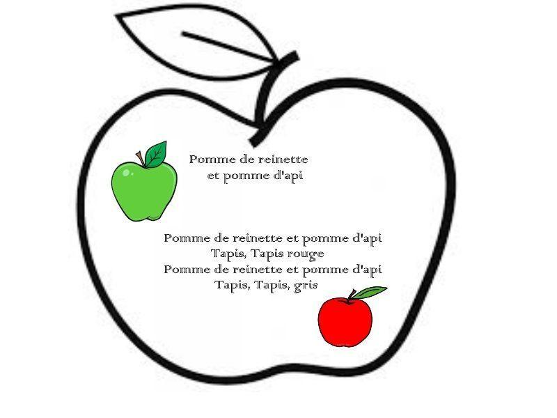 Comptine concernant Pomme De Renette