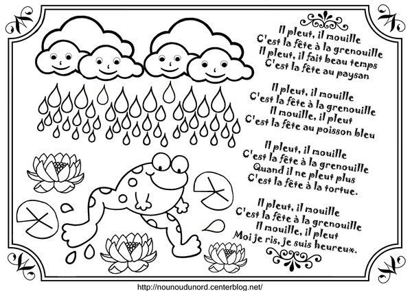Comptine Il Pleut Il Mouille Illustrée Par Nounoudunord à Nounou Du Nord