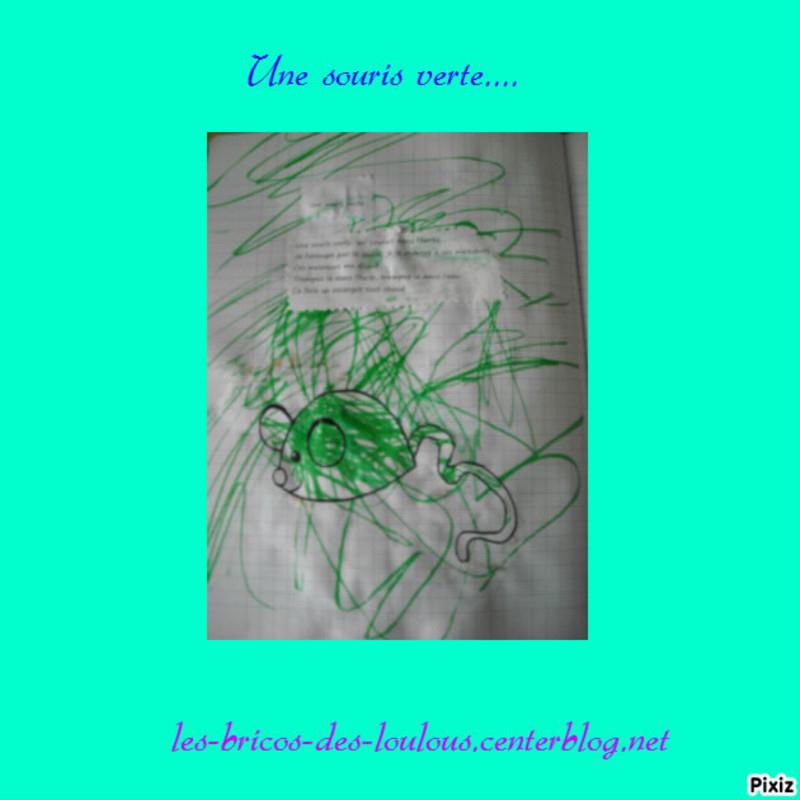 Comptine Illustrée : Une Souris Verte - Centerblog serapportantà Une Souri Vert