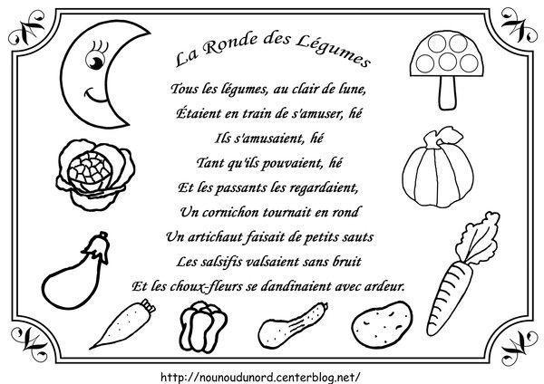 Comptine La Ronde Des Légumes Illustrée Par Nounoudunord serapportantà Au Clair De La Lune Paroles
