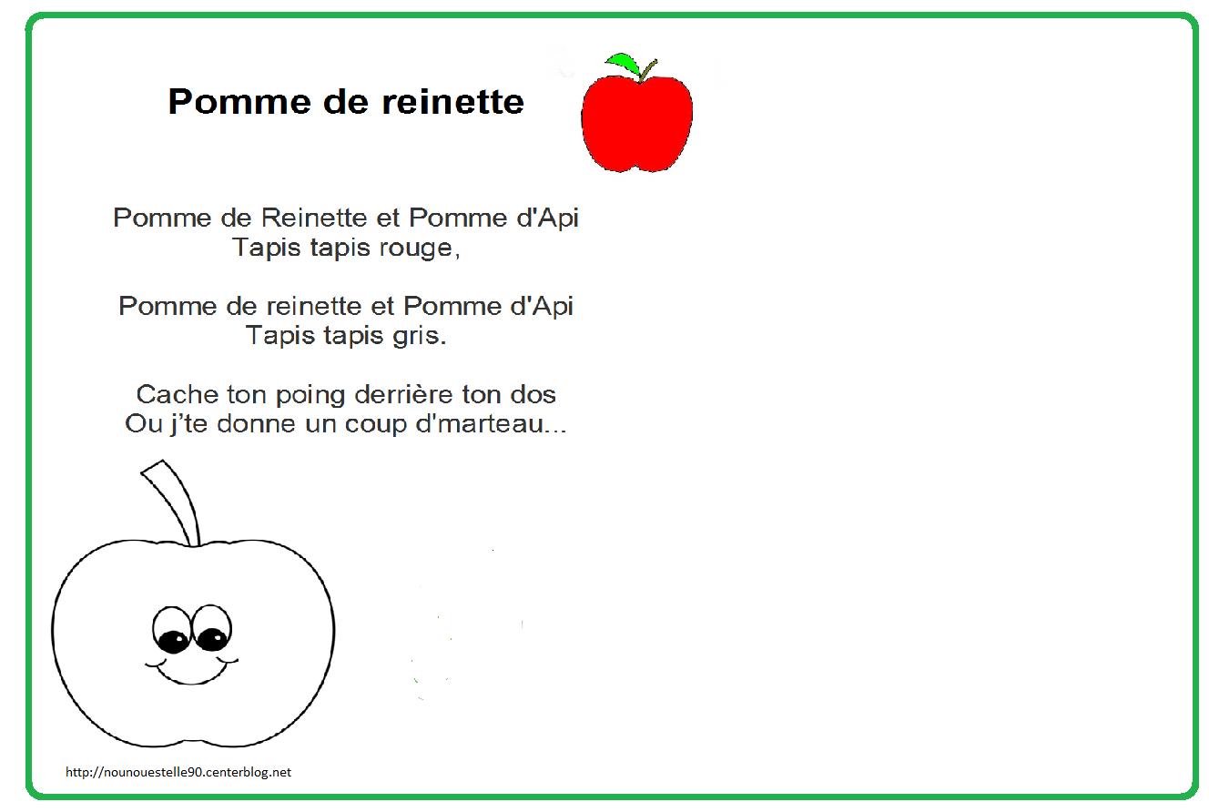 Comptine tout Pomme De Renette