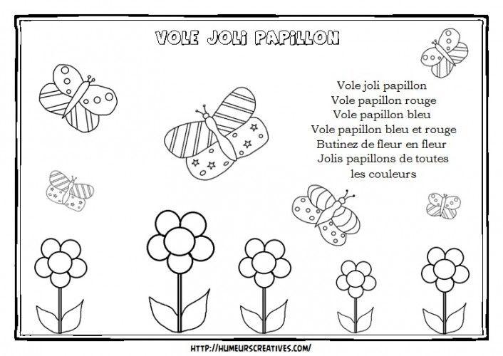Comptines Et Chansons - En 2020 (Avec Images) | Comptines destiné Comptine Papillon