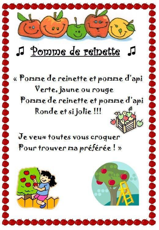 Comptines - Page 3 avec Pomme De Renette