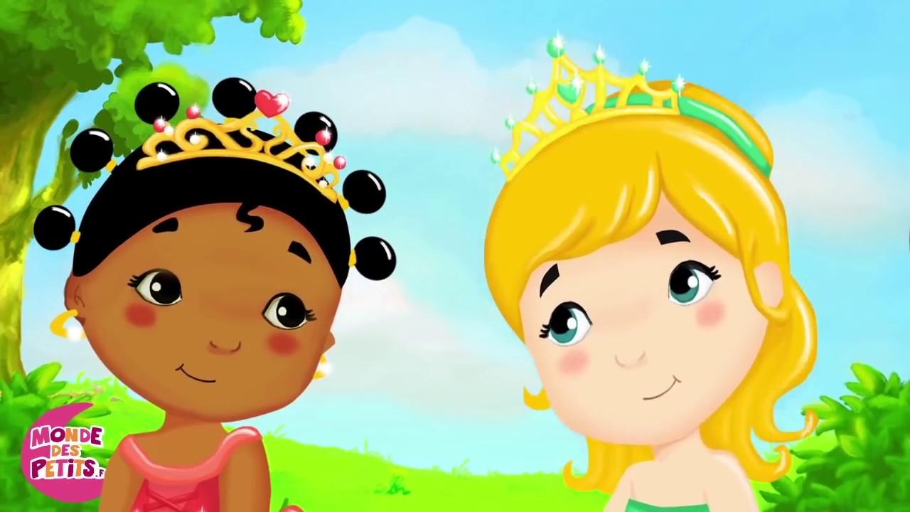 Comptines Pour Enfants : Les Petites Princesses 55 Min De destiné Les Chansons Pour Les Petit Gratuit