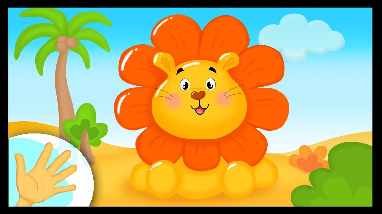 Comptinette Du Lion - Comptine À Gestes - intérieur Les Chanson Pour Les Bébé