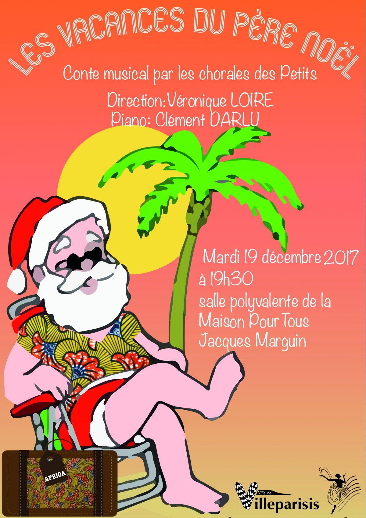 Conservatoire : « Les Vacances Du Père Noël » | Mairie De dedans Chansons Du Pere Noel