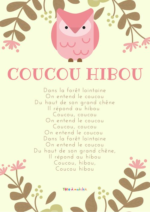 Coucou Hibou - Paroles & S Sur La Chanson Avec Tête À dedans Coucou Hibou Chanson