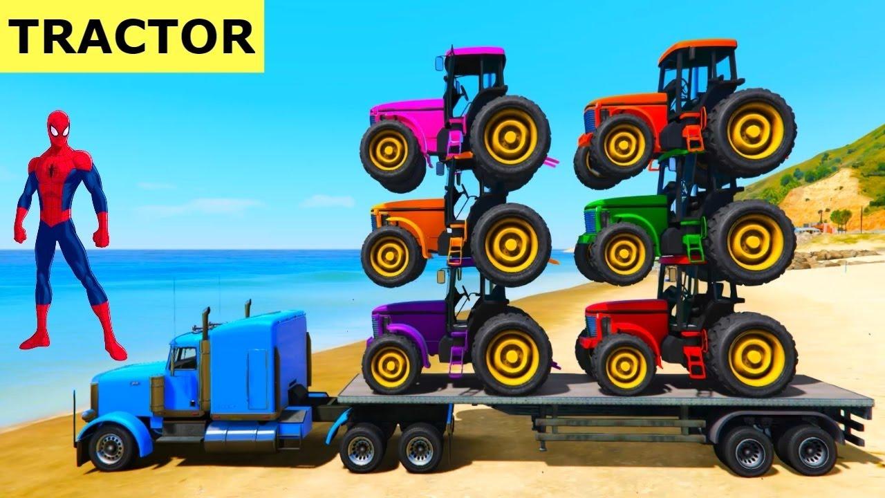 Couleurs Tracteur En Super-Héros Voitures Dessin Animé tout Lego City Dessin Animé