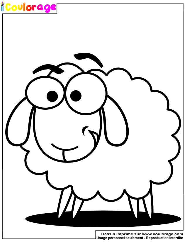 Coulorage - Dessin Et Coloriage De Mouton À Imprimer encequiconcerne Dessin Mouton Rigolo