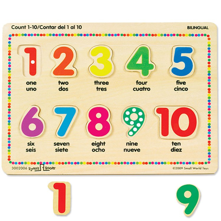 "Counting Bilingual English Spanish Puzzle - Educational à Cache: .Com"" ""Learn-Numbers-In-English"""""