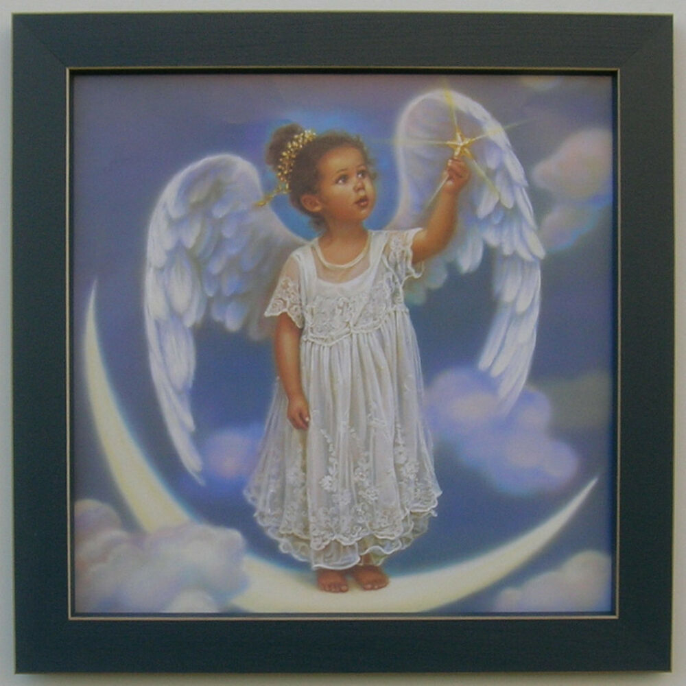 Country Little Angel 12 X 12 Framed Country Picture Print concernant Little Angel