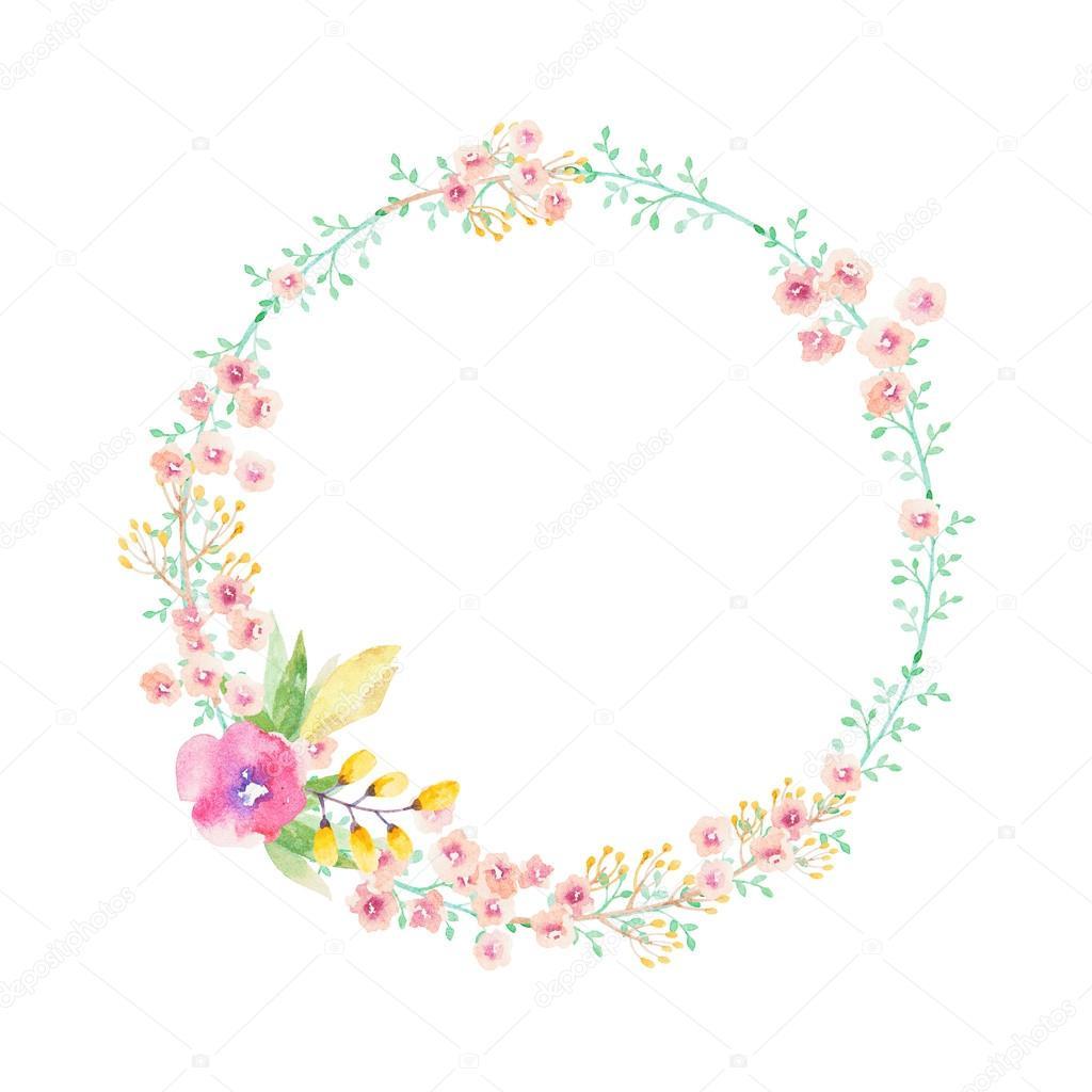 Couronne De Fleurs Dessin Aquarelle pour Couronne De Fleurs Dessin