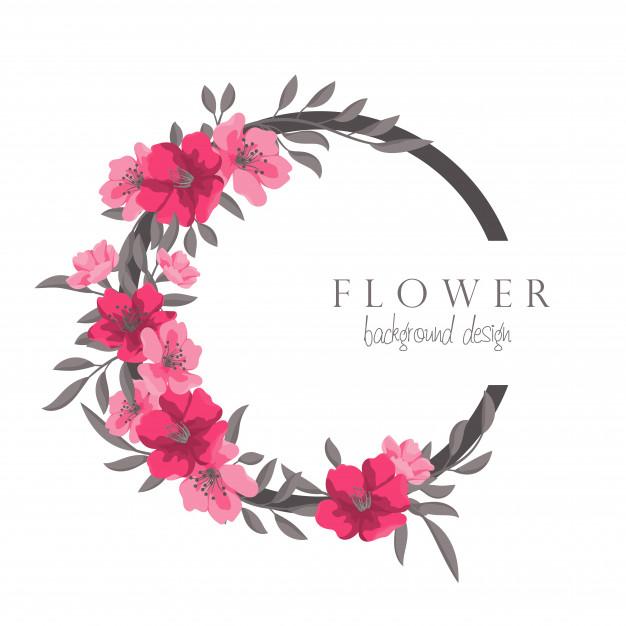 Couronne De Fleurs Dessin Cadre Cercle Rose Chaud Avec Des à Couronne De Fleurs Dessin
