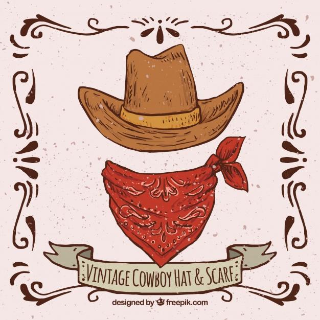 Cowboyhoed Vectoren, Foto'S En Psd Bestanden | Gratis Download dedans Dessin Chapeau De Cowboy