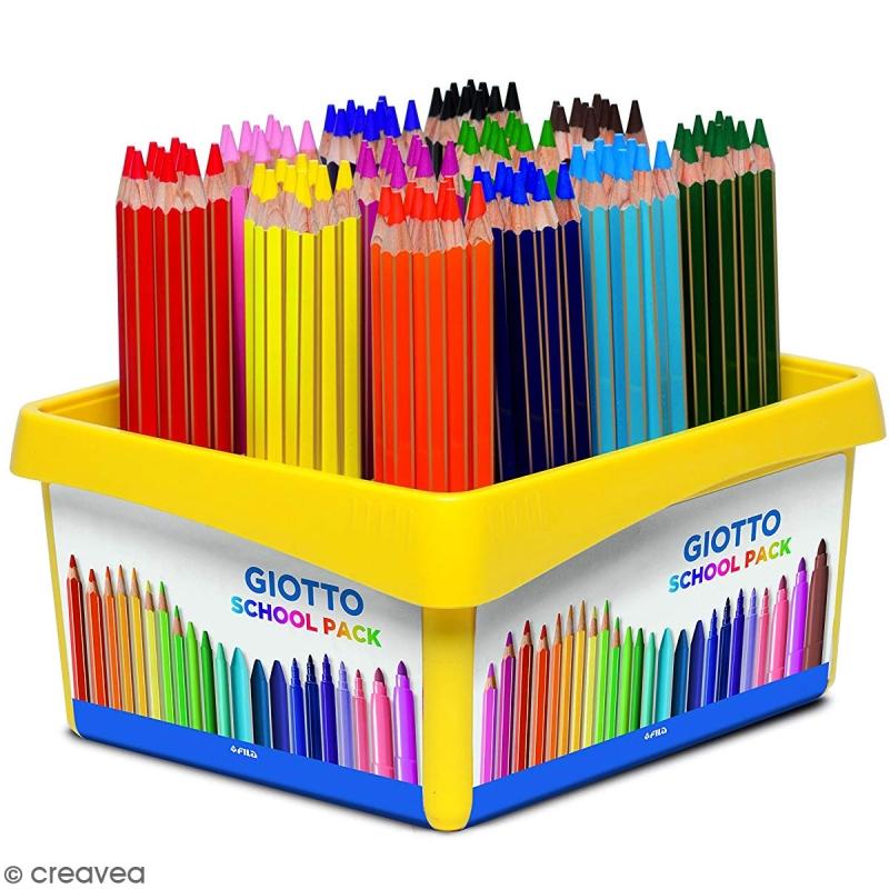 Crayon De Couleur Giotto Mega X 120 - Coffret École à Crayon De Coloriage