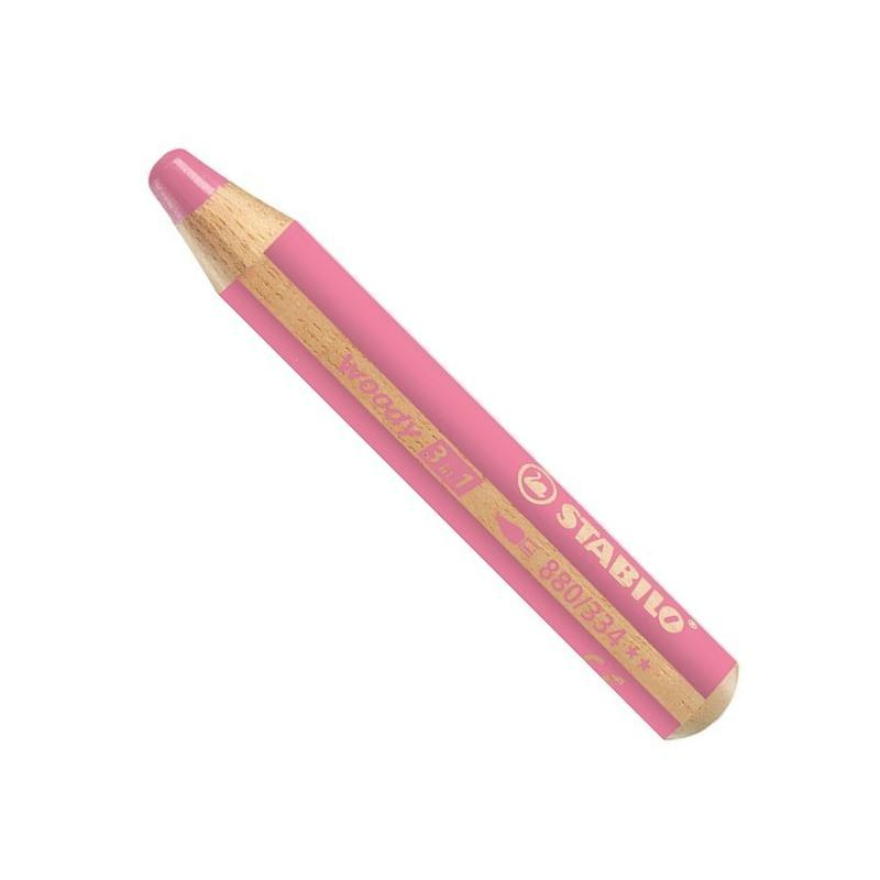 Crayon De Couleur Woody 3 En 1 - Rose Foncé - Crayon De dedans Crayon De Coloriage