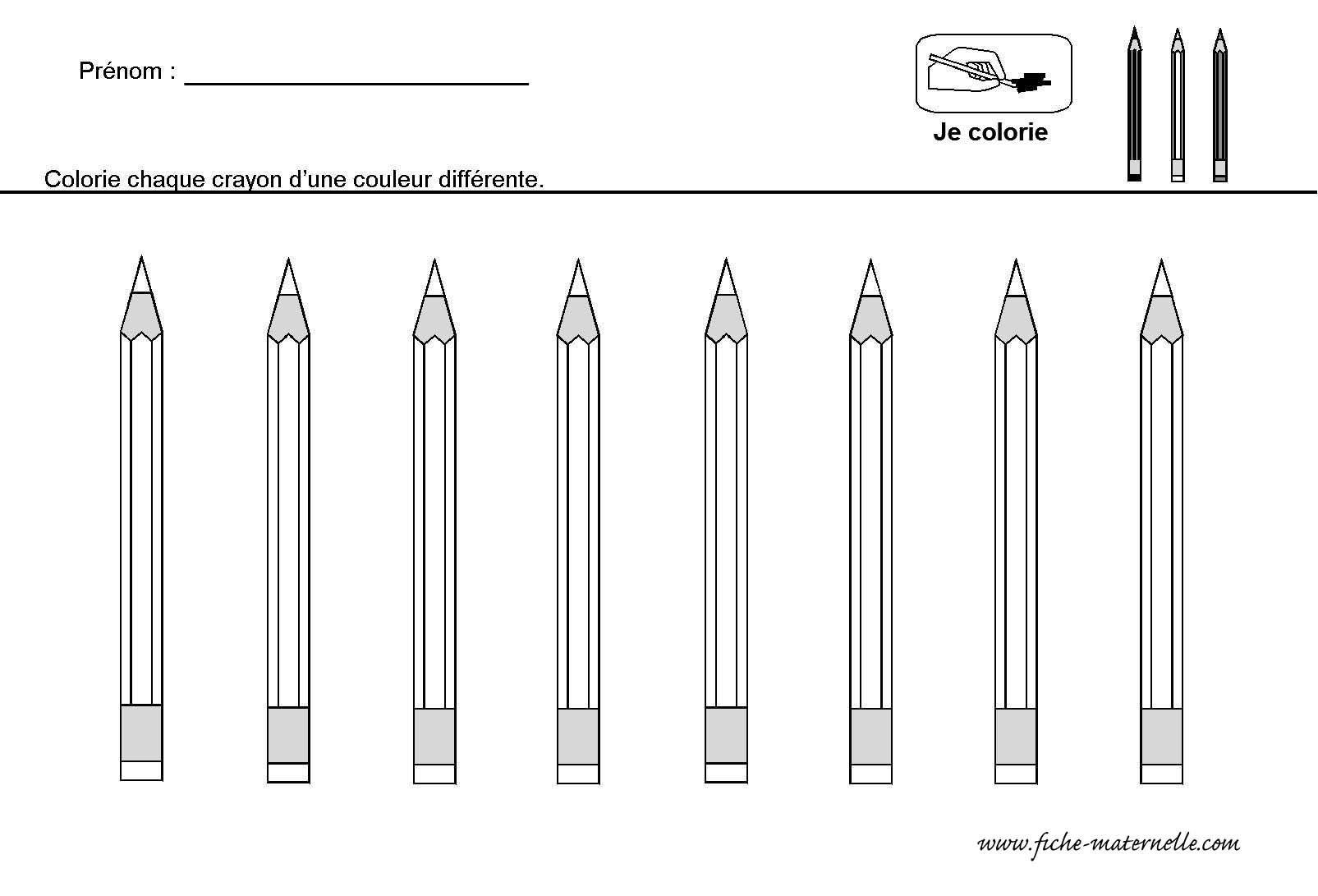Crayons De Couleur | Kleurplaten, Potlood, Kleuren destiné Crayon De Coloriage