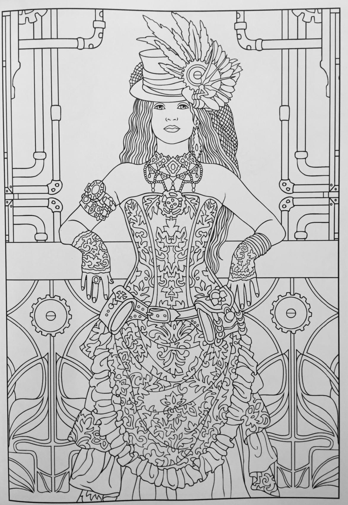 Creative Haven Steampunk Fashions Coloring Book (Creative tout Book Coloriage
