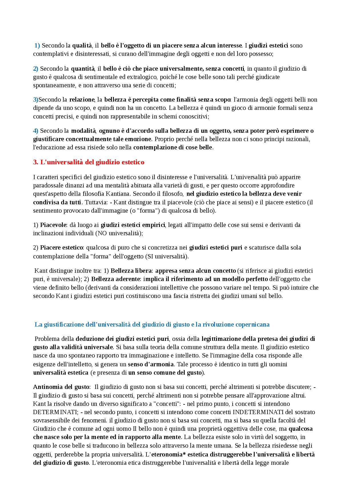 Critica Del Giudizio - Docsity dedans Docsity