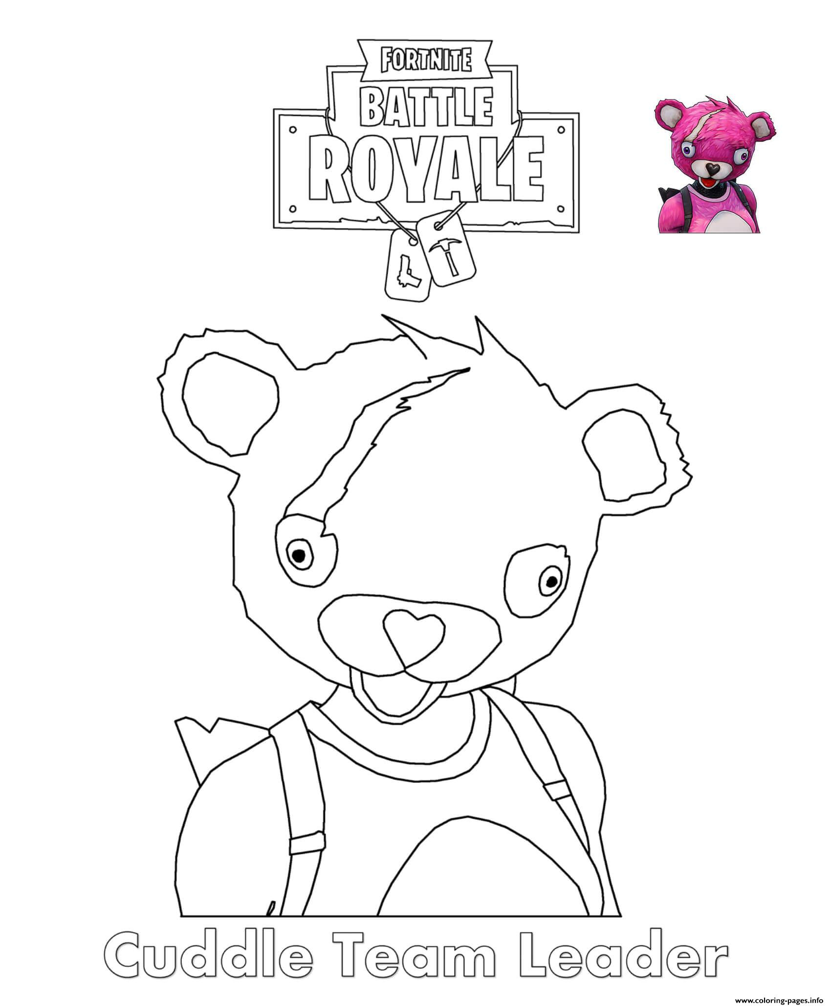 Cuddle Team Leader Fortnite Coloring Pages Printable serapportantà Dessin A Imprimer Personnage Fortnite