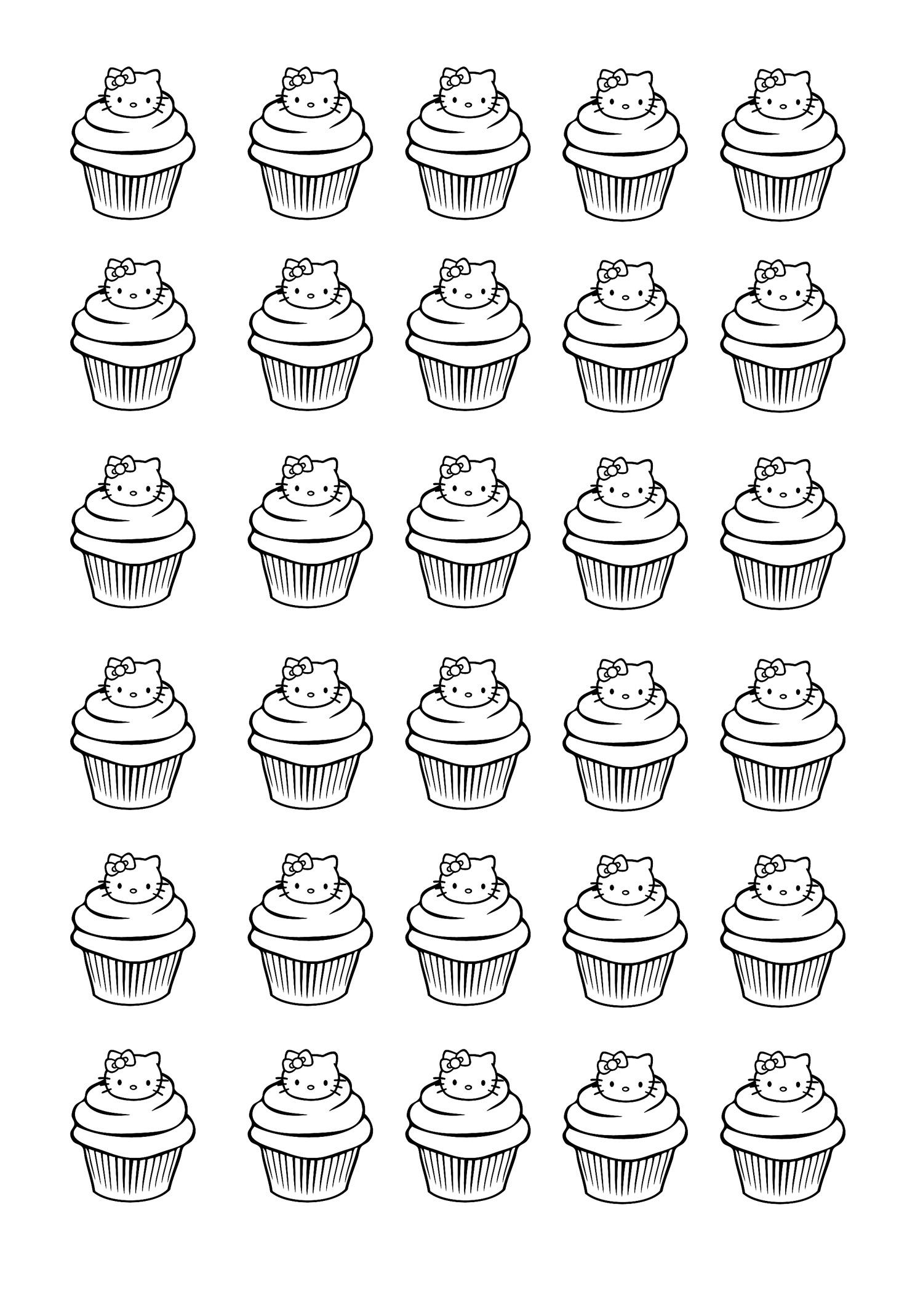 Cup Cakes - Coloriages Difficiles Pour Adultes : Coloriage dedans Coloriage Cupcake A Imprimer