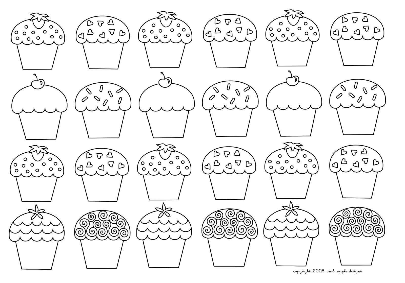 Cup Cakes - Coloring Pages For Adults : Coloring-Mosaique serapportantà Coloriage De Cupcake